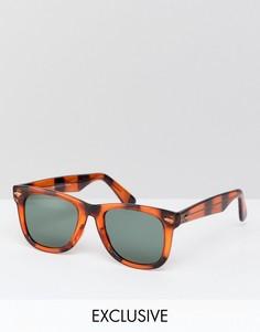 Квадратные солнцезащитные очки в черепаховой оправе Reclaimed Vintage Inspired эксклюзивно для ASOS - Коричневый