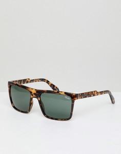 Квадратные солнцезащитные очки в черепаховой оправе Quay Australia Let It Run - Коричневый
