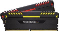 Модуль памяти CORSAIR Vengeance RGB CMR32GX4M2A2666C16 DDR4 - 2x 16Гб 2666, DIMM, Ret