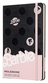 Блокнот Moleskine Limited Edition BARBIE Large 130х210мм 240стр. линейка Dots [lebrqp060]
