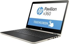 "Ноутбук HP Pavilion 14-ba023ur, 14"", Intel Core i7 7500U 2.7ГГц, 8Гб, 1000Гб, 128Гб SSD, nVidia GeForce 940MX - 4096 Мб, Free DOS, 1ZC92EA, золотистый"