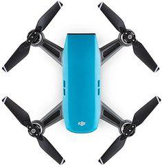 Квадрокоптер DJI Spark fly more COMBO с камерой, синий
