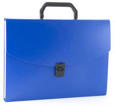 Портфель Бюрократ -BPP6BLUE 6 отдел. A4 пластик 0.7мм синий
