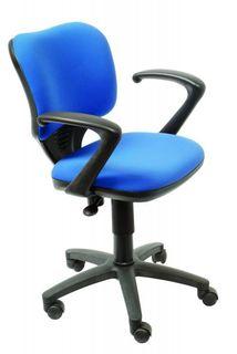 Кресло БЮРОКРАТ Ch-540AXSN-Low, на колесиках, ткань, синий [ch-540axsn-low/26-21]