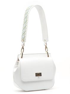 Кожаная сумка с широким ремешком Labbra