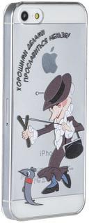 """Клип-кейс Deppa Art Case для Apple iPhone SE/5/5S рисунок """"Шапокляк"""" + защитная пленка (прозрачный с рисунком)"""