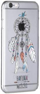 """Клип-кейс Deppa Art Case для Apple iPhone 6/6S рисунок """"Ловец"""" + защитная пленка (прозрачный с рисунком)"""