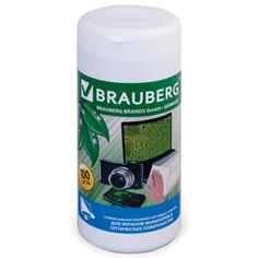Аксессуар Brauberg Чистящие салфетки для монитора 100шт влажные 510122