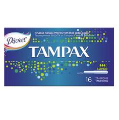 Тампоны с аппликатором `TAMPAX` Super 16 шт