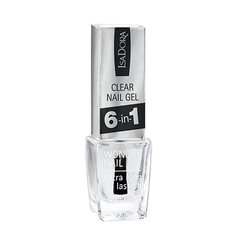 Средство по уходу за ногтями `ISADORA` CLEAR NAIL GEL универсальное 6 в 1 6 мл