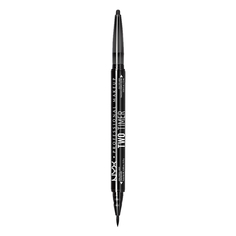 Лайнер для глаз `NYX PROFESSIONAL MAKEUP` TWO TIMER-DUAL EYELINER тон 01 Black