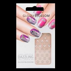 Наклейки для ногтей `GLOSSYBLOSSOM` DAZZLING DECORATION  цветы, камни
