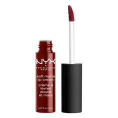 Помада для губ `NYX PROFESSIONAL MAKEUP` SOFT MATTE LIP CREAM тон 27 Madrid матовая жидкая