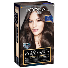 Краска для волос `LOREAL` `PREFERENCE` тон 4.01 Париж (глубокий каштан) LOreal