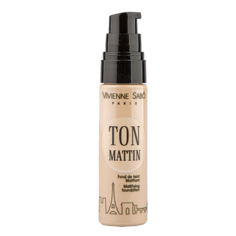 Крем тональный для лица `VIVIENNE SABO` TON MATTIN тон 102 матирующий