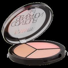 Набор для макияжа `EVELINE` CONTOUR SENSATION 3 в 1 тон 01 Pink Beige