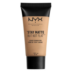 Основа тональная для лица `NYX PROFESSIONAL MAKEUP` STAY MATTE BUT NOT FLAT тон 06 Medium beige матирующая