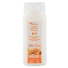 Гель для душа, пена для ванны, шампунь для волос `BATH THERAPY` PARIS SWEETS 3 в 1 Морская соль и карамель 98 мл
