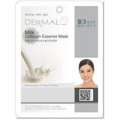 Маска для лица `DERMAL` с молочными протеинами и коллагеном
