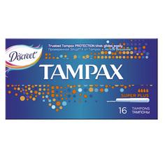 ТАМПОНЫ `TAMPAX` c апликатором супер плюс  по 16шт.