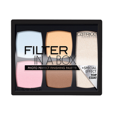 Палетка для макияжа лица `CATRICE` FILTER IN A BOX (корректор, мерцающая пудра)