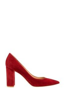 Красные замшевые туфли Gianvito Rossi