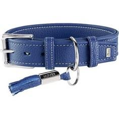 Ошейник Hunter Collar Cannes 50 (34-42см)/2,8см натуральная кожа синий для собак