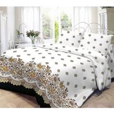 Комплект постельного белья Нежность 1,5 сп, бязь, Кружево с наволочками 70x70 (187091)