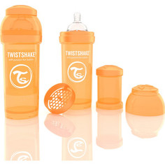 Twistshake Антиколиковая бутылочка для кормления 260 мл. Оранжевая (780009)