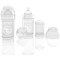 Twistshake Антиколиковая бутылочка для кормления 180 мл. Белая (780006)