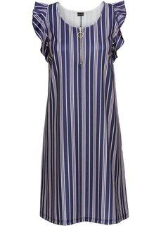 Платье на молнии (темно-синий в полоску) Bonprix