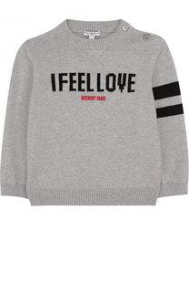 Пуловер из смеси хлопка и кашемира с логотипом бренда Givenchy