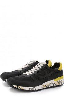Комбинированные кроссовки Mick на шнуровке Premiata