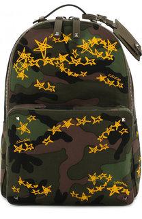 Текстильный рюкзак с камуфляжным принтом Valentino