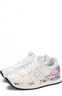 Комбинированные кроссовки Liz с кружевной отделкой Premiata