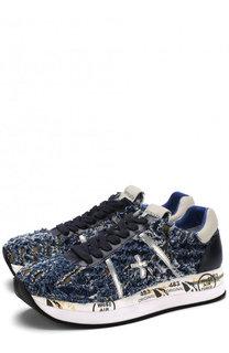 Текстильные кроссовки Conny с фактурной отделкой Premiata
