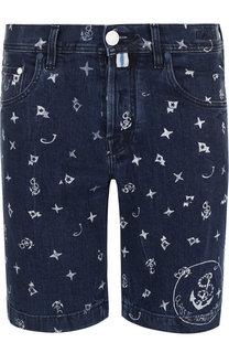 Джинсовые шорты с принтом Jacob Cohen