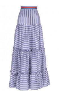 Хлопковая юбка-макси в полоску Stella Jean