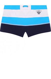 Плавки-шорты с логотипом бренда Armani Junior