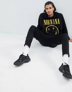 Oversize-худи с принтом Nirvana ASOS DESIGN - Черный