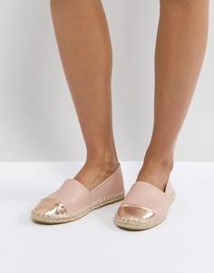 Эспадрильи со вставкой на носке Truffle Collection - Бежевый