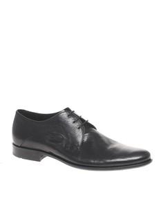 Фактурные кожаные туфли дерби Boss Black - Черный