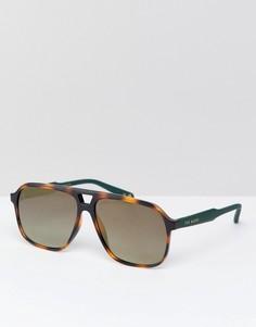 Солнцезащитные очки-авиаторы в черепаховой оправе Ted Baker TB1504 173 Ervin - Коричневый