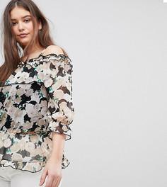 Блузка с открытыми плечами и цветочным принтом Koko - Мульти