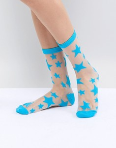 Носки со звездным узором Gipsy - Синий