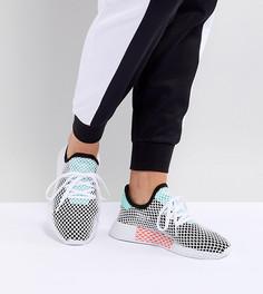 Женские черно-зеленые кроссовки adidas Originals Deerupt - Черный