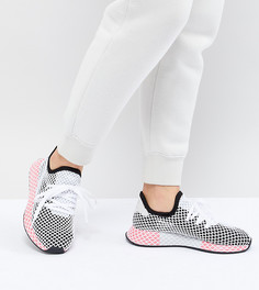 Женские черно-розовые кроссовки adidas Originals Deerupt - Черный