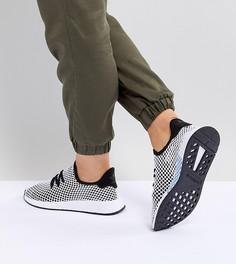 Женские черно-серые кроссовки adidas Originals Deerupt Runner - Черный