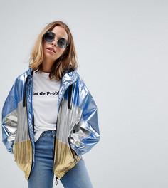Куртка-дождевик с эффектом металлик ASOS DESIGN Petite - Мульти