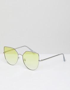 Солнцезащитные очки в ромбовидной металлической оправе с затемненными стеклами Jeepers Peepers - Черный